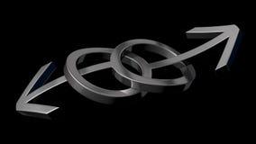 Gay marriage. Theme. tangled male symbols, iron version royalty free illustration