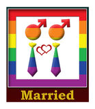 Gay Married Frame Stock Photo