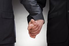 Gay men holding hands Stock Images