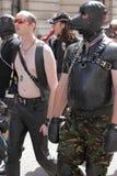 Gay men during pride parade. Gay men during Gay and Lesbian Pride Parade in London 2013 stock image