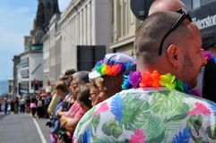 Gay parade in Brighton, UK royalty free stock photo