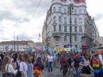 Gay parade in Prague Stock Image
