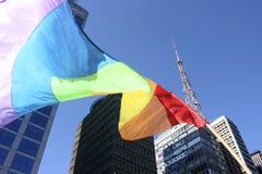 Gay Parade in Sao Paulo Royalty Free Stock Images