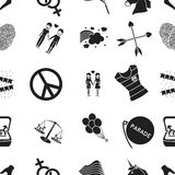 Gay pattern icons in black style. Big collection of gay vector symbol stock illustration Stock Image