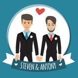 Gay people wedding Royalty Free Stock Photography