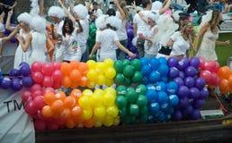 Gay Pride 2011, Amsterdam. Canal parade at Gay Pride 2011, Amsterdam Stock Image