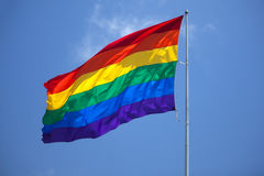 Gay Pride. The flag on gay pride parade stock image