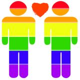 Gay Pride. Gay Couple in pride colors Royalty Free Stock Image