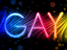 Gay Pride Abstract Colorful Waves Royalty Free Stock Photos