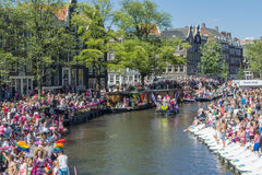 Gay Pride Amsterdam August 2013 Royalty Free Stock Image