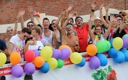 Gay Pride Antwerp. Images from the Gay Pride festival in Antwerp, Belgium on the 13th of August 2016 Royalty Free Stock Image