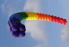 GAY PRIDE BALLOON FLAG Royalty Free Stock Photo