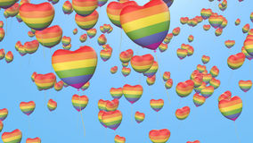 Gay pride balloons Stock Images
