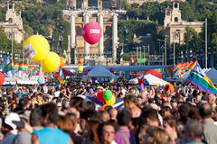Gay Pride in Barcelona, Spain Stock Photography