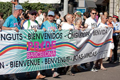Gay Pride in Barcelona, Spain Stock Images