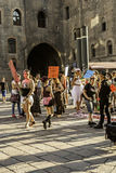 Gay pride. In bologna 2014 royalty free stock photo