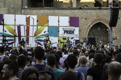 Gay pride. In bologna 2014 royalty free stock image