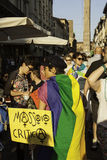 Gay pride. In bologna 2014 stock images