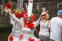Gay Pride Canal Parade Amsterdam 2014 Imagen de archivo libre de regalías