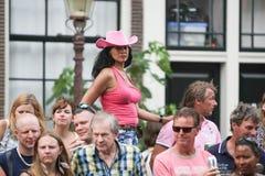 Gay Pride Canal Parade Amsterdam 2014 Fotos de archivo