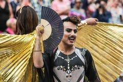 Gay Pride Canal Parade Amsterdam 2014 Fotos de archivo libres de regalías