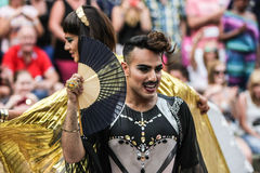 Gay Pride Canal Parade Amsterdam 2014 Foto de archivo libre de regalías