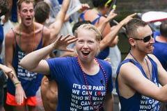 Gay Pride Canal Parade Amsterdam 2014 Imágenes de archivo libres de regalías