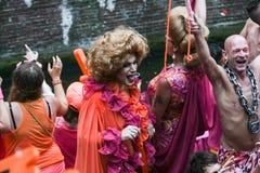 Gay Pride Canal Parade Amsterdam 2014 Imagenes de archivo