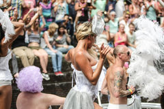Gay Pride Canal Parade Amsterdam 2014 Stock Image