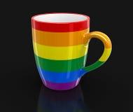 Gay Pride color cup Royalty Free Stock Photos