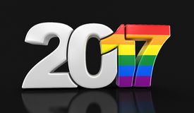 Gay Pride Color  New Year 2017. Image with clipping path Royalty Free Stock Image