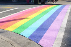 Gay Pride Crosswalk, Vancouver Royalty Free Stock Photos