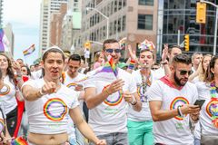 GAY PRIDE 2018 DE TORONTO photo stock