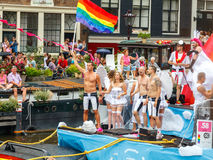 Gay pride 2014 di Amsterdam Immagine Stock