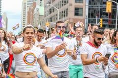 GAY PRIDE 2018 DI TORONTO fotografia stock
