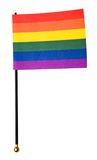 Gay pride flag. Isolated over white stock photo