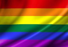 Gay pride flag Royalty Free Stock Image