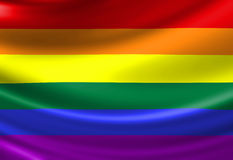 Gay pride flag Royalty Free Stock Images