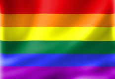 Gay pride flag Stock Image