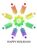 Gay Pride Flag Snowflake Christmas Card Royalty Free Stock Image