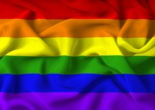 Gay Pride Flag. Very large version of the gay pride flag stock image