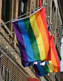 Gay Pride Flags Royalty Free Stock Photography