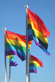 Gay Pride Flags, Vancouver, British Columbia Stock Photography