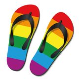 Gay Pride Flip Flops. For summer holiday fun -  vector illustration on white Stock Image