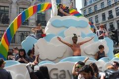 Gay Pride Float Londres 2013 Foto de archivo libre de regalías