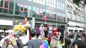 Gay Pride France, Strasbourg stock video