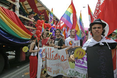 Gay Pride Genova 2009 Stock Photos