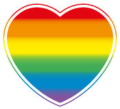 Gay Pride Heart Rainbow Colored Love Royalty Free Stock Photo