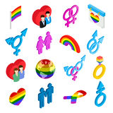 Gay pride isometric 3d icons Stock Photography