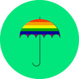 Gay Pride LGBT Umbrella. Illustration Royalty Free Stock Image